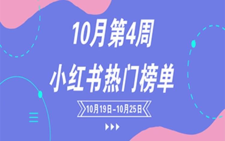 10月第4周小红书热门榜单